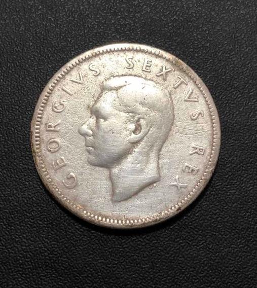 Moeda Antiga 1951 Africa Do Sul 2 Shillings