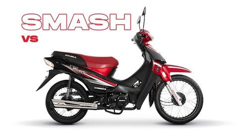 Moto Gilera Smash 110cc Vs Roja Y Negro  Maipu Motos