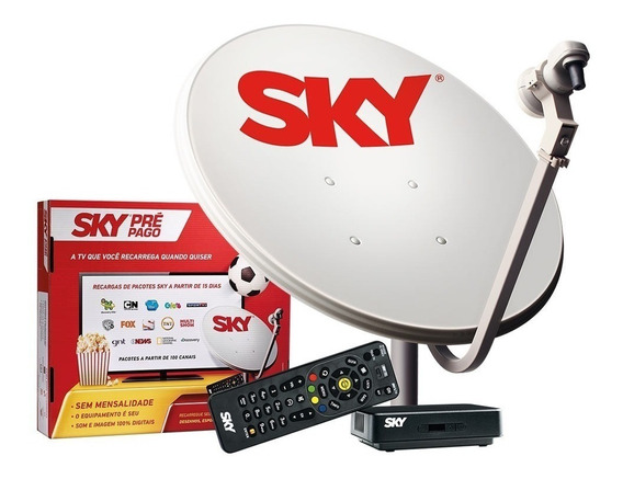 Kit Sky Pré Pago Sd Completo + Recarga Digital 30 Dias