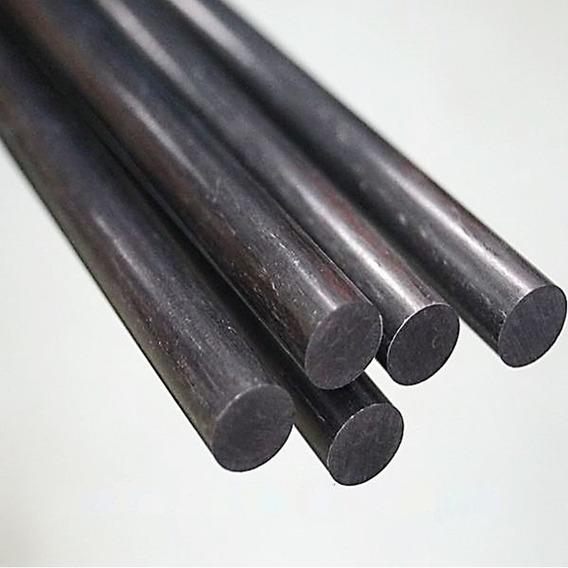 Fibra De Carbono Real Barra Redonda Solida 6mm X 1metro