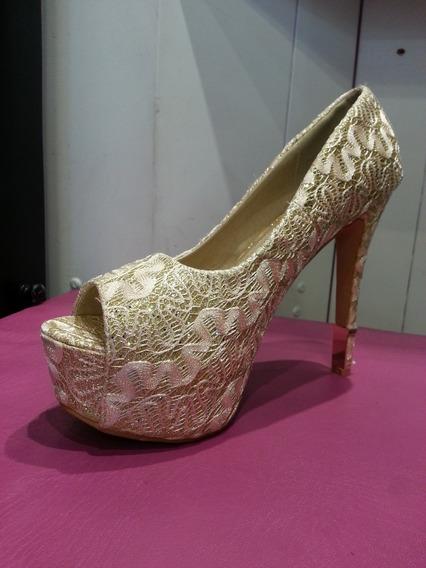 Zapatos Dama Taco Aguja 15 Cm Talle 41 Unicos