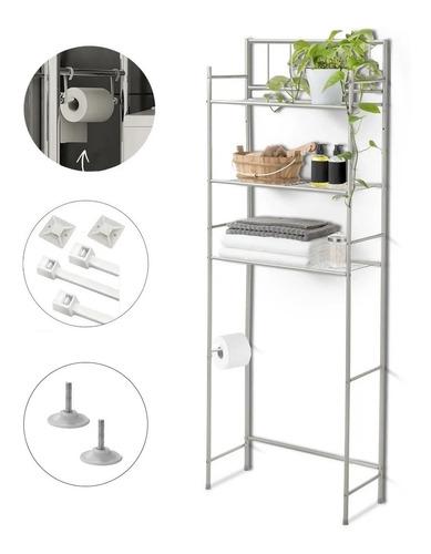 Imagen 1 de 7 de Mueble Organizador De Baño Tres Estantes Metal # Sobre Mochila Repisa Inodoro