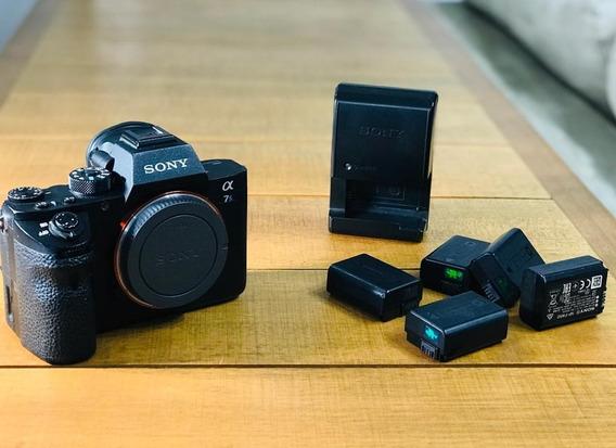 Câmera Sony Alpha 7sii + 5 Baterias + Carregador De Baterias