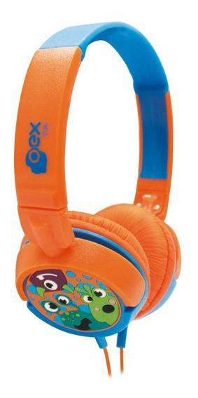 Headphone Fone De Ouvido Kids Criança Boo Laranja Hp-301