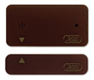 Sensor Magnetico Inalambrico Alarma X28 Color Blanco Marron