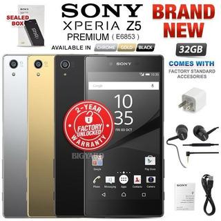 Nueva Fábrica Desbloqueado Sony Xperia Z5 Premium E6853 Negr