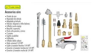 Kit Accesorios Para Compresor Aire Taller Juego 18 Piezas