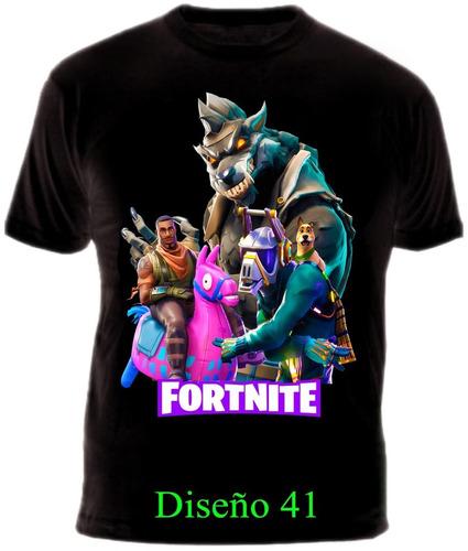 Camiseta Fortnite Gamer Video Juego Heroe Algodon Garantizad