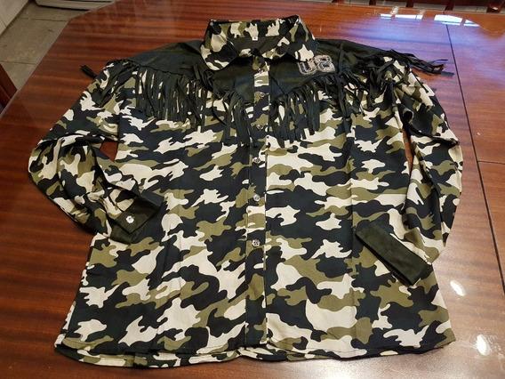 Camisa Camuflada Con Flecos T M
