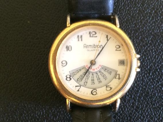 Relógio De Pulso Masculino Em Plaquê Armitron A Quartz