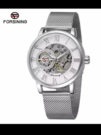 Reloj Skeleton Forsining De Cuerda Mecanico