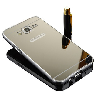 Capa Case Espelhada Alumínio Samsung Galaxy J7 J700 Prata