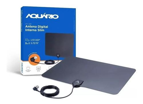 Antena Slim Digital Tv Uhf Vhf Hd Fm Super Fina Compacta