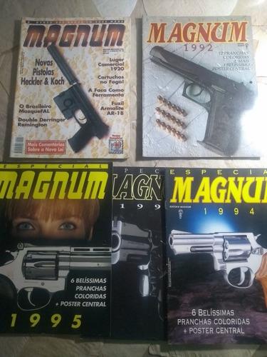 Cinco Revistas Magnum Pistola Revolver