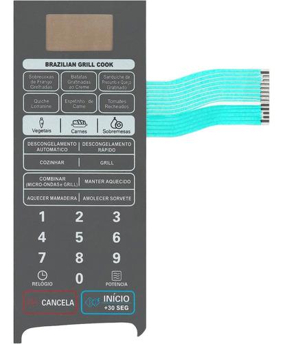 Imagem 1 de 3 de Membrana Teclado Microondas LG Mh7049c Mh 7049c