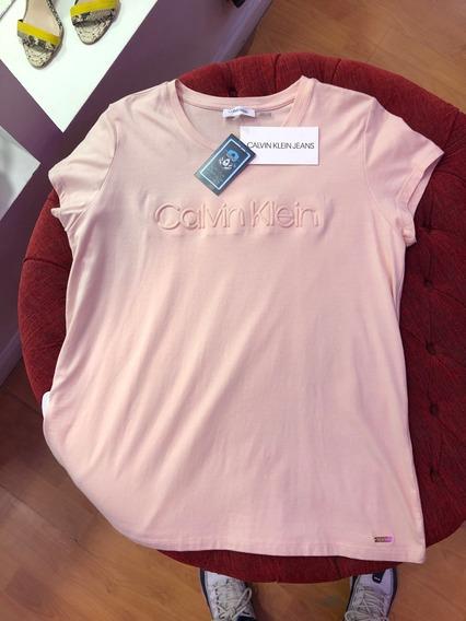 Remera Calvin Klein Mujer Importada Pink