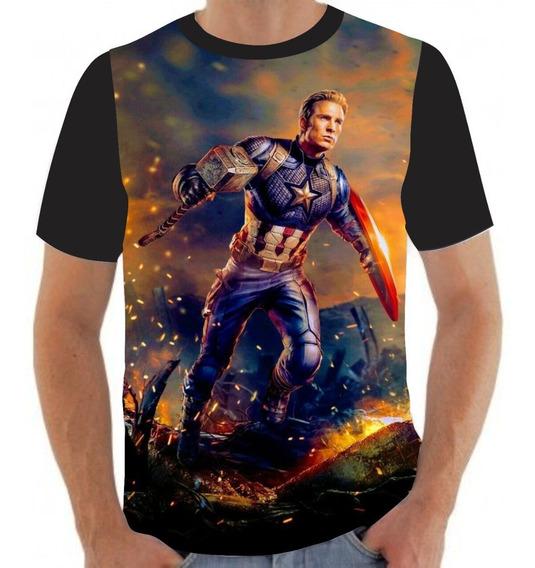 Camiseta Camisa Capitão América Martelo Thor- A61