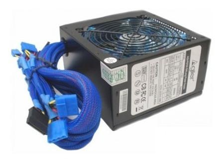 Power Supply 600w Agiler - 80mm Fan 20+4 Pin + 2 Sata