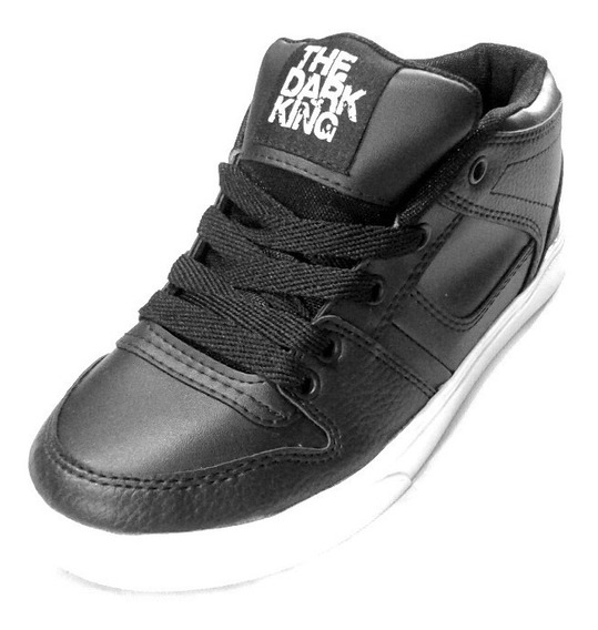 Zapatillas The Dark King. Skate. Hip Hop. Quebec Negro Liso.