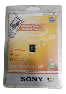 Cartão De Memoria Sony Original M2 2gb Sem Adaptador