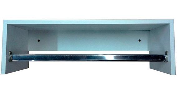 Cabideiro Branco Prateleira Araras Roupas Mdf 40x15x25cm