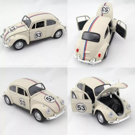 Miniatura Vw Fusca 1967 Herbie 53 Escala 1:32