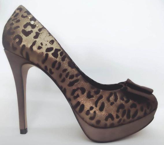 Sapato Parô Salto Alto Onça