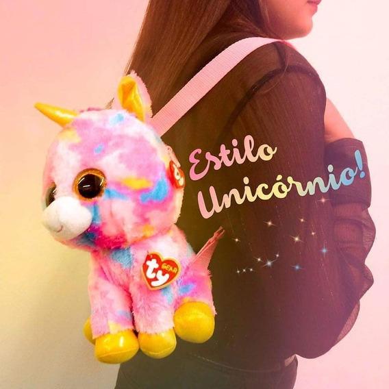 Unicornio Rosa Fantasia Mochila Ty Gear Fashion Oferta