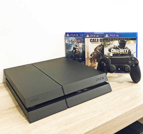 Playstation 4 - Ps4 - 500gb + Controle + 3 Jogos