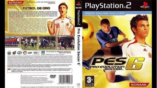 Pro Evolution Soccer 6 Pes 6 Ps2 Y Pc Mercado Libre