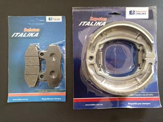 Balatas Delantera/trasera Italika Ds125 Ds150 Xs150 Trn150