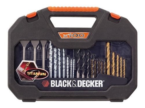 Kit De Furar E Parafusar Com 100 Peças Black+decker A7187-xj