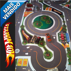 Hot Wheels Pista P/ Hot Wheels Incrível Tapete + Vendida - P