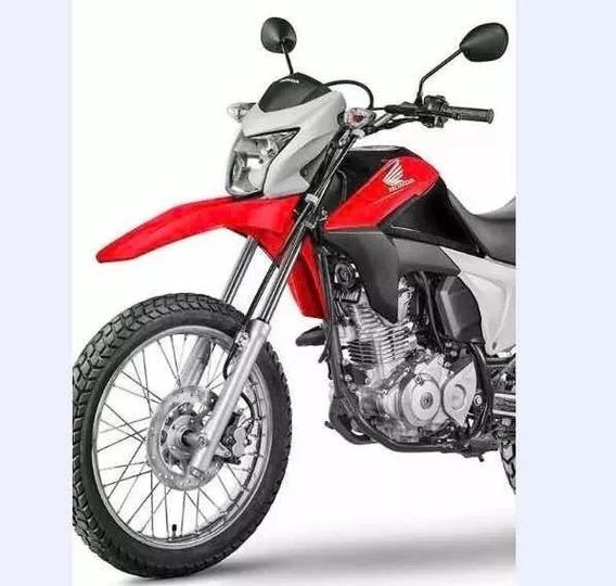 Aba Tanque + Paralama Bros160 Vermelha 14/15 Original Honda