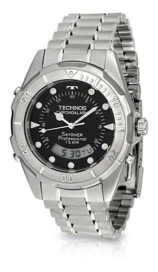 Relógio Technos Masculino Prata - Skydiver - T20557/1p