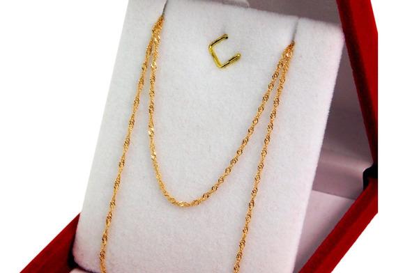 Cadena Singapur Oro Rojo 18 K 50 Cm 1,5 Gr Joyeria Esponda