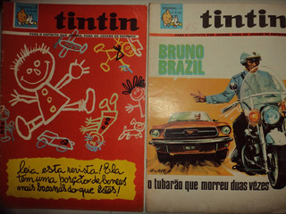 Lote Tintin Semanal 7 E 8 Editora Bruguera 1968 Otimos