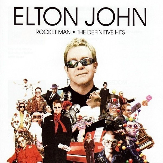 Cd Elton John Rocket Man - The Definitive Hits Novo Lacrado