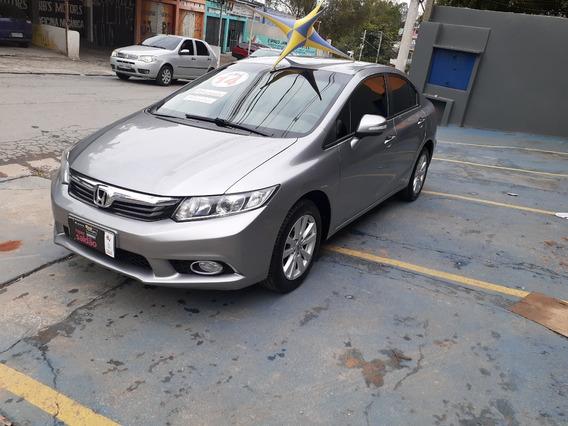 Honda Civic Lxr 2014 Completo + Couro $ 48900 Troca/financ
