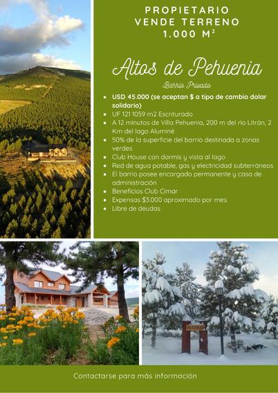 Lote Altos De Pehuenia 1000 M2