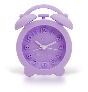 Reloj Despertador Violeta Soft Rubberchic