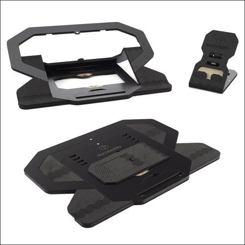 Imagen 1 de 10 de Toco-kit 2 En 1 Soporte Notebook Celular Regulable Portátil