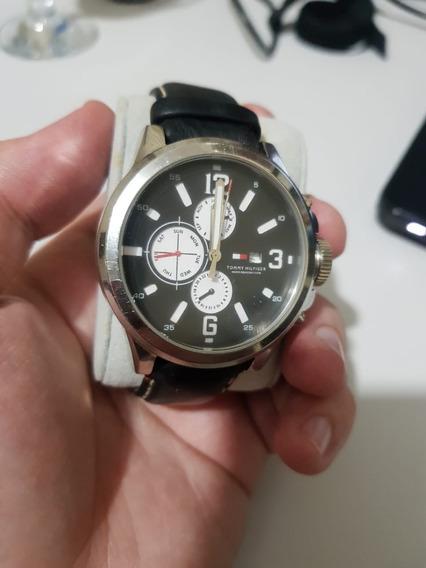 Relógio Tommy Hilfiger - Pulseira De Couro Preto