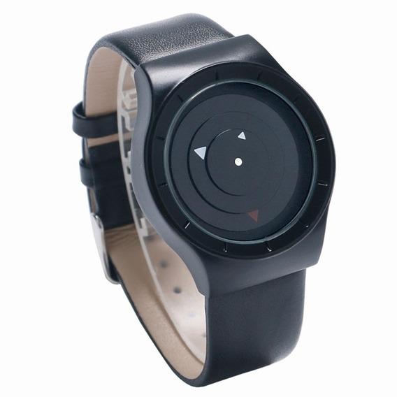 Relógio Paidu Negro 3 Triangulos Giratórios Analógico 4cm