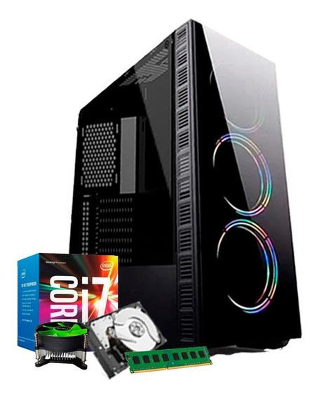 Cpu Intel 7ª Geração I7 7700 Kaby Lake, 8gb Ddr4, 1tb + Nfe