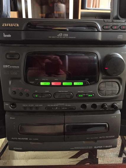 Micro System Aiwa Nsx 5200 Para Revisao Leia
