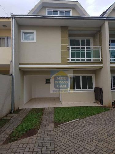 Sobrado Com 3 Dormitórios À Venda, 130 M² Por R$ 380.000,00 - Fazendinha - Curitiba/pr - So0265