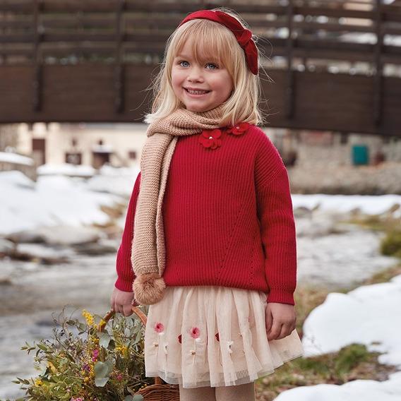 Conjunto Suéter Y Falda Mayoral Niña 4318 Rojo 4 5 6 Oferta