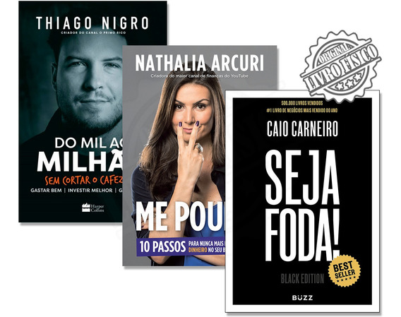 Kit Livro Do Mil Ao Milhão + Me Poupe + Seja Foda