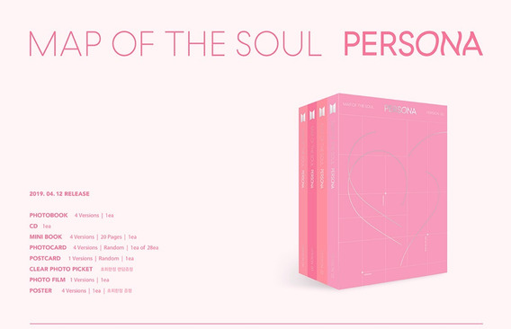Kpop Bts Cd Album Map Of The Soul Persona + Poster + Brinde